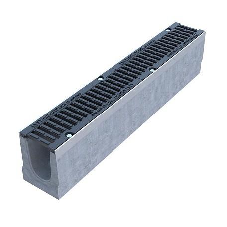Лоток водоотводный Standartpark BetoMax Drive ЛВ-10.16.16-Б бетонный с решеткой щелевой чугунной ВЧ класс D комплект