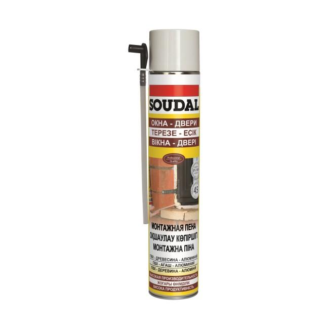 Пена монтажная Soudal 750 мл, цена - купить у оптового поставщика