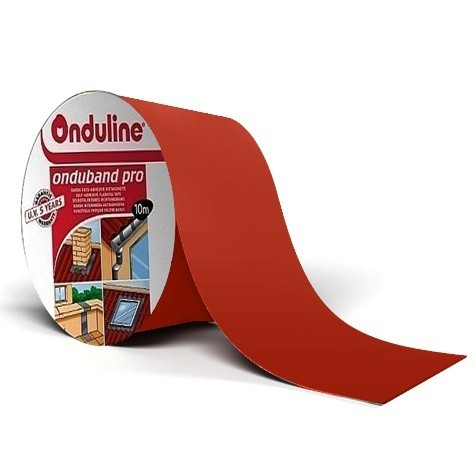 Лента герметизирующая Ондулин Ондубанд красный 10000х100 мм самоклеящаяся, цена - купить у оптового поставщика