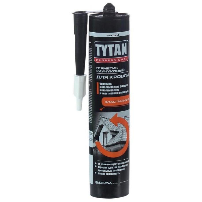 Герметик каучуковый Tytan Professional для кровли белый 310 мл, цена - купить у оптового поставщика