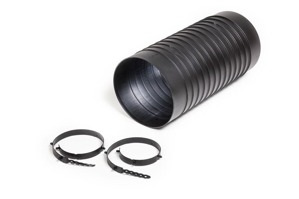 Монтажный патрубок для цокольного дефлектора ROSS 200 черный