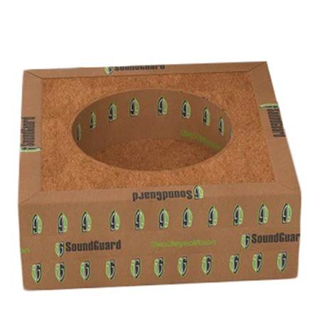 Короб звукоизоляционный односекционный Soundguard Izobox 1 130x130x48 мм, цена - купить у оптового поставщика
