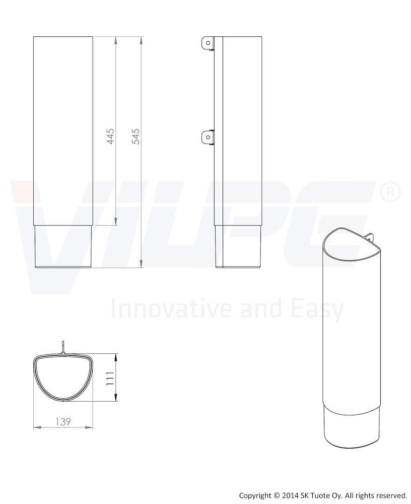 Удлинитель для цокольного дефлектора ROSS - 160 бежевый