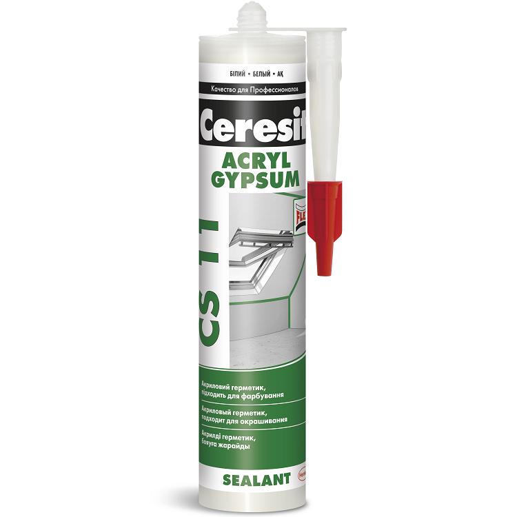Герметик акриловый Ceresit CS 11 белый 280 мл, цена - купить у оптового поставщика