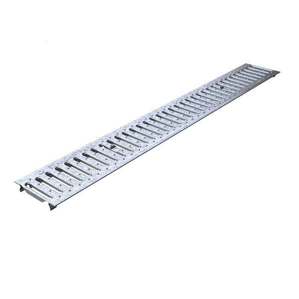 Решетка водоприемная Standartpark Basic РВ-10.14.100-К штампованная стальная оцинкованная