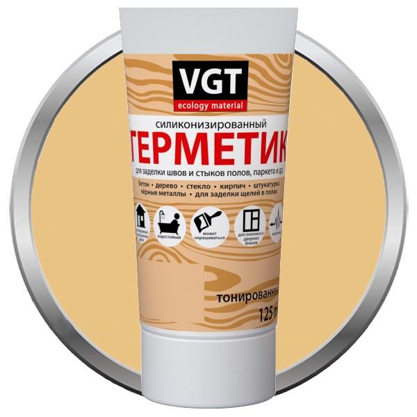 Герметик силиконизированный VGT сосна 0,16 л, цена - купить у оптового поставщика