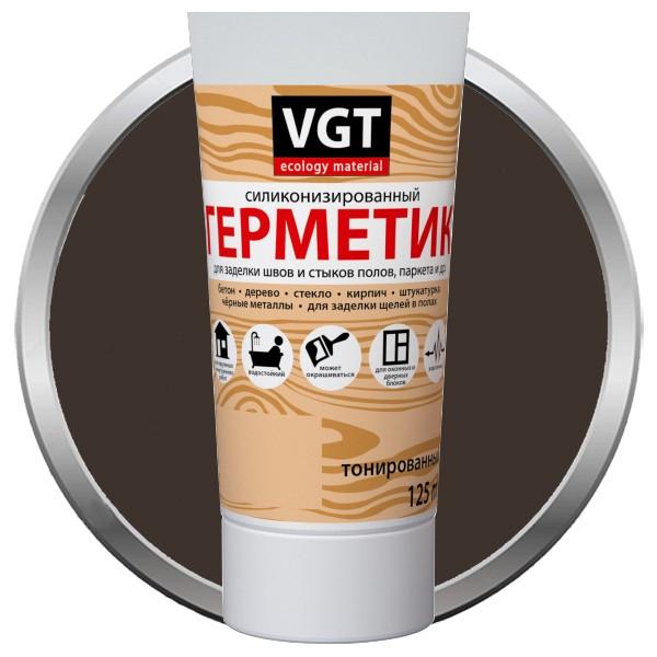 Герметик силиконизированный VGT венге 0,16 л, цена - купить у оптового поставщика