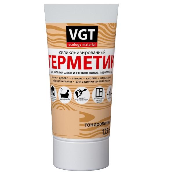 Герметик силиконизированный VGT белый 0,16 л, цена - купить у оптового поставщика