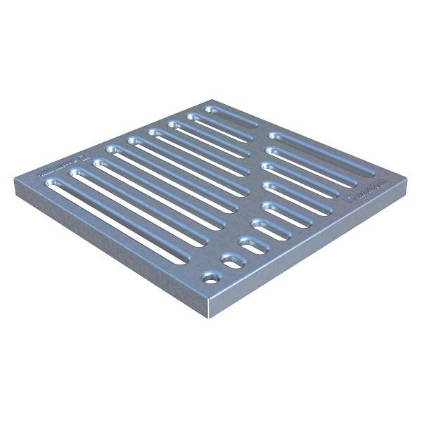 Решетка к дождеприемнику Standartpark Basic РВ-28.28 штампованная стальная оцинкованная