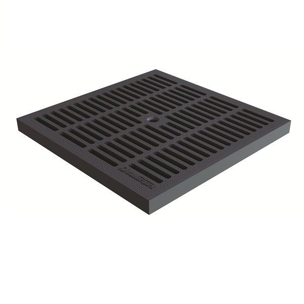 Решетка водоприемная Standartpark PolyMax Basic РВ-28.28-ПП пластиковая ячеистая черная класс A