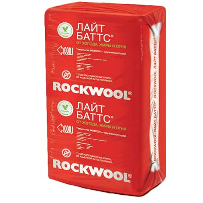 Базальтовая вата Rockwool Лайт Баттс 1000х600х100 мм 5 плит в упаковке, цена - купить у оптового поставщика