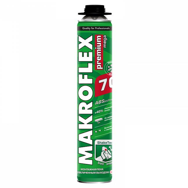 Пена монтажная Makroflex ShakeTec Premium Mega 70 профессиональная 870 мл, цена - купить у оптового поставщика