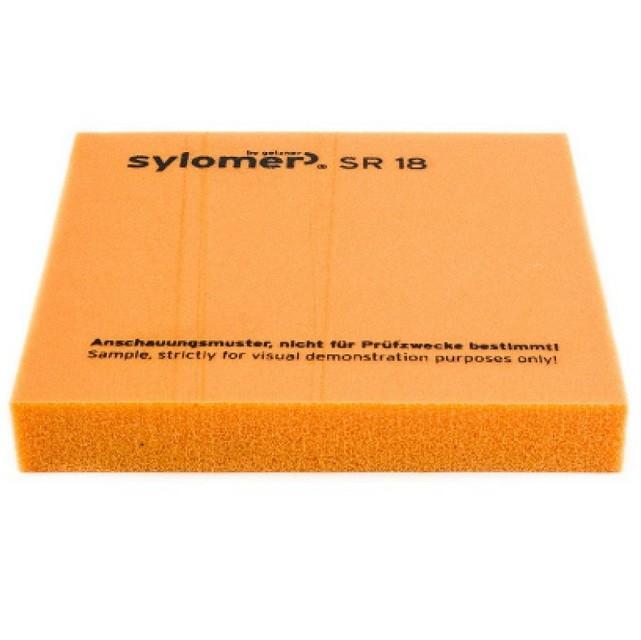 Виброизолирующий эластомер Sylomer SR 18 оранжевый 1200х1500х25 мм, цена - купить у оптового поставщика