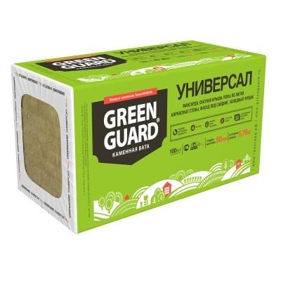 Базальтовая вата Greenguard Универсал 1200x600x100 мм 4 плиты в упаковке, цена - купить у оптового поставщика