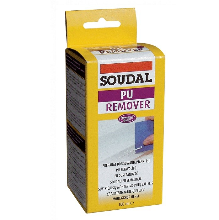 Очиститель затвердевшей монтажной пены Soudal PU Remover 100 мл, цена - купить у оптового поставщика