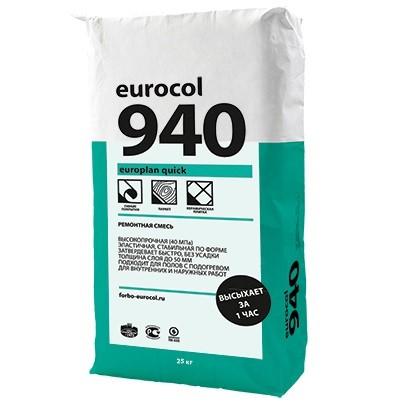 Ремонтная смесь Forbo Eurocol 940 Europlan Quick 25 кг, цена - купить у оптового поставщика