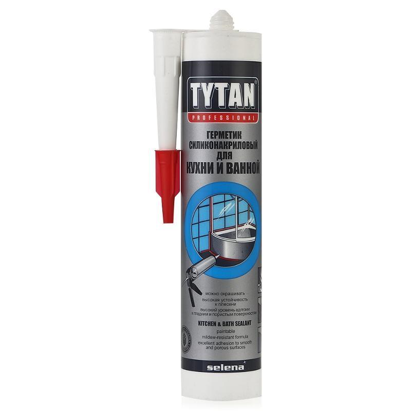 Герметик силиконакриловый Tytan Professional для кухни и ванной белый 310 мл, цена - купить у оптового поставщика