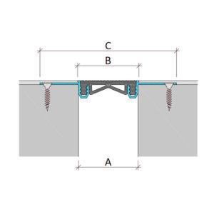 Закладной профиль для деформационного шва без нагрузки Аквастоп тип ДГК-2/020