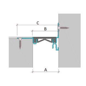 Закладной профиль для деформационного шва без нагрузки Аквастоп тип ДГК-2-УГЛ/025