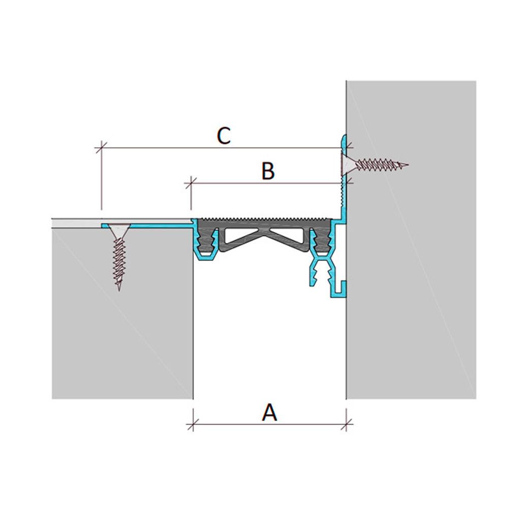 Закладной профиль для деформационного шва без нагрузки Аквастоп тип ДГК-2-УГЛ/125