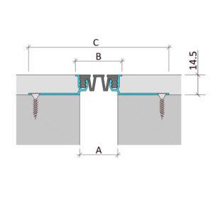 Закладной профиль для деформационного шва без нагрузки Аквастоп тип ДГК-15-УГЛ.Ш/035