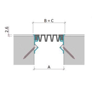 Вставной профиль для фасадного деформационного шва Аквастоп тип ДГК-ФАС.2/120