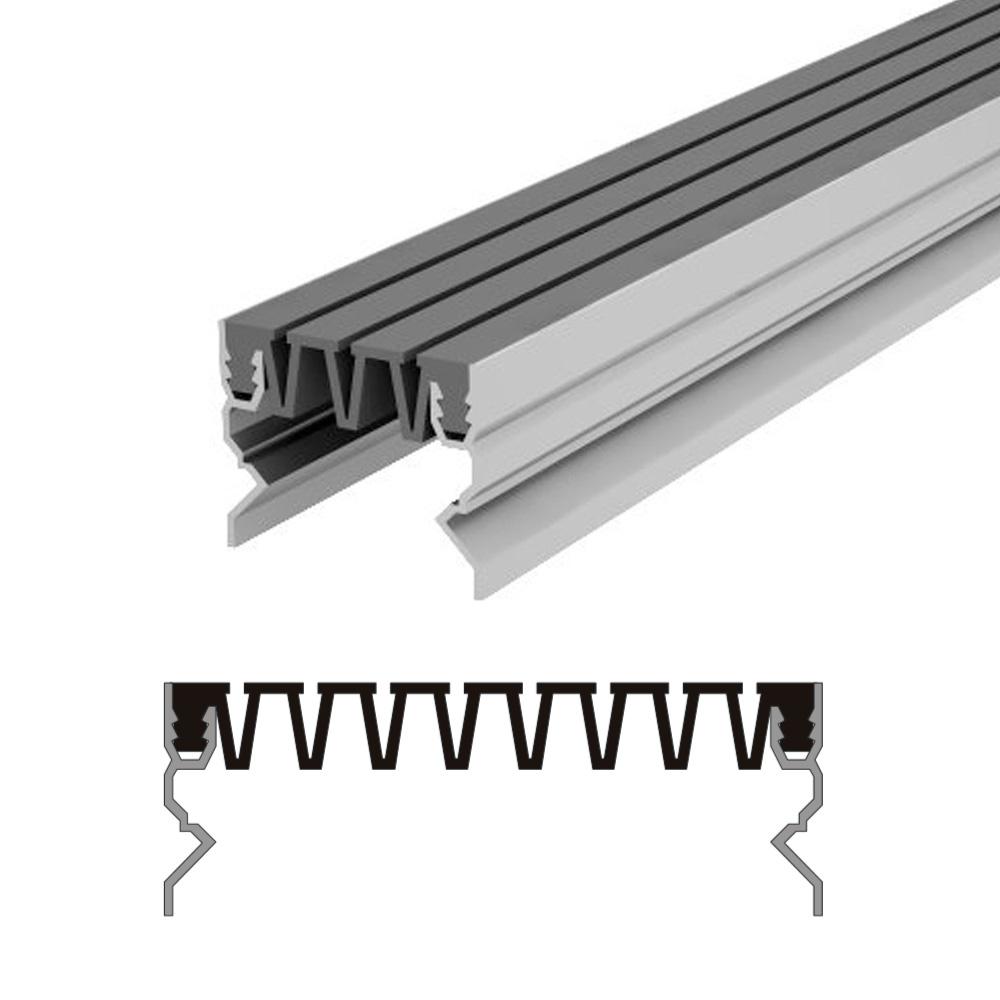 Вставной профиль для фасадного деформационного шва Аквастоп тип ДГК-ФАС/070