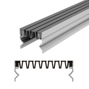 Вставной профиль для фасадного деформационного шва Аквастоп тип ДГК-ФАС/120