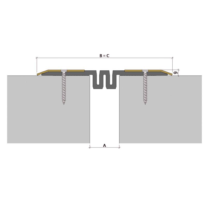 Накладной профиль для деформационного шва ДПС-0/020 ПС2-176/020 ПН-83-АА