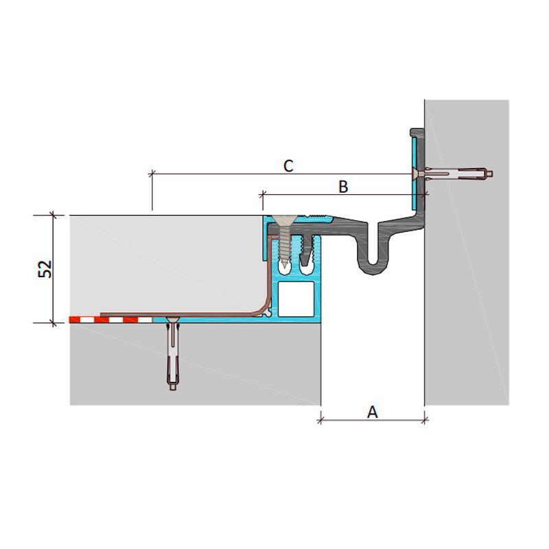 Закладной профиль для деформационного шва ДПШ-50-УГЛ/050