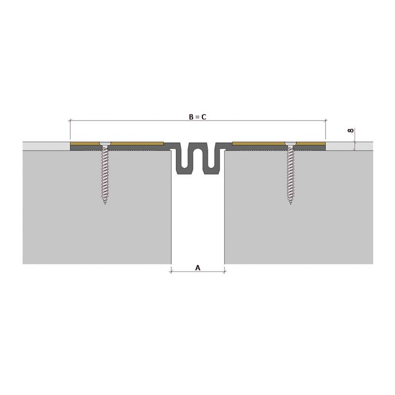 Закладной профиль для деформационного шва ДПВ-8/050 ПП-88-СО