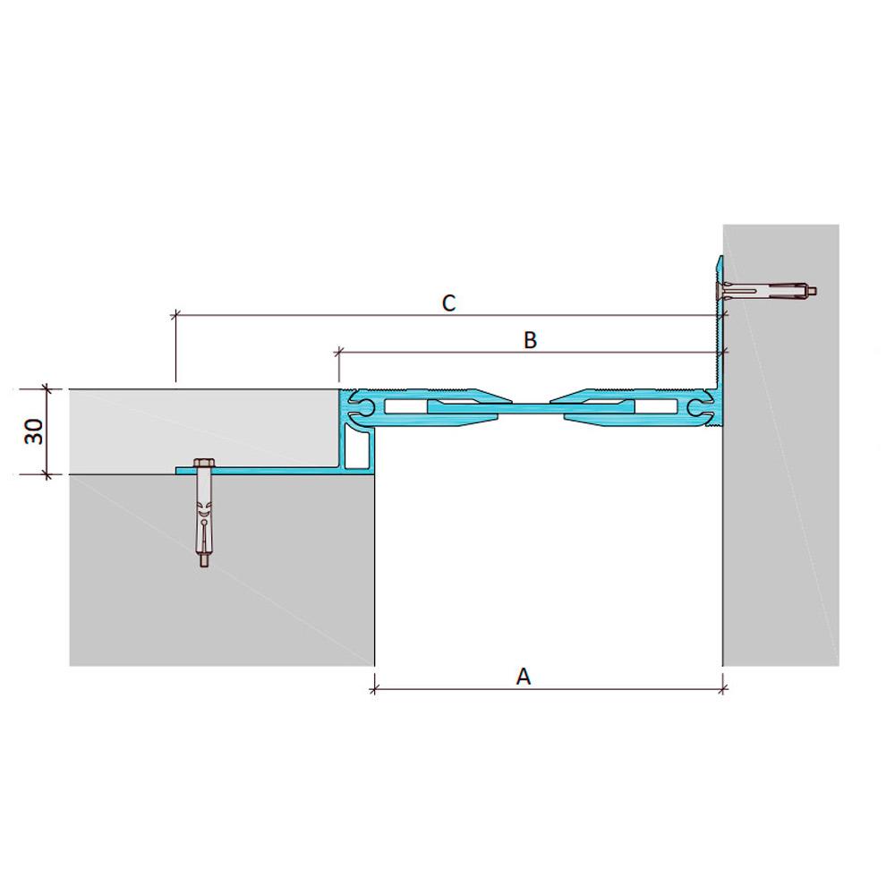 Закладной профиль для деформационного шва ДША-30-УГЛ/038