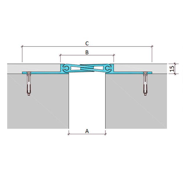 Закладной профиль для деформационного шва ДША-15-УГЛ/038