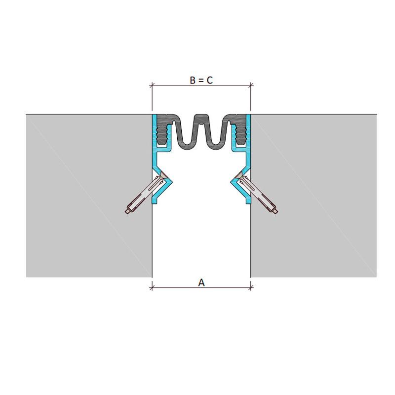 Закладной профиль для фасадного деформационного шва ДШКА-ФАС/080