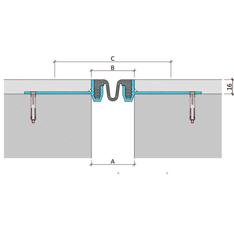 Закладной профиль для деформационного шва ДШКА-16-УГЛ/055