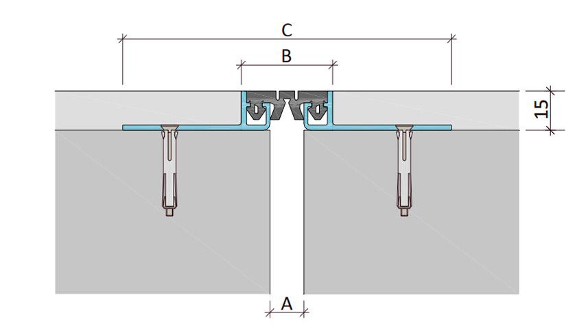 Закладной профиль для деформационного шва ДШМ-15/030 В2-049
