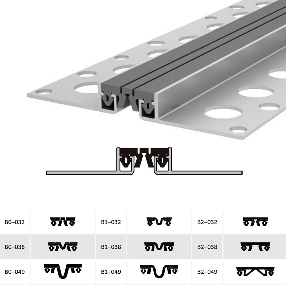 Закладной профиль для деформационного шва ДШМ-15-УГЛ/025 В1-032