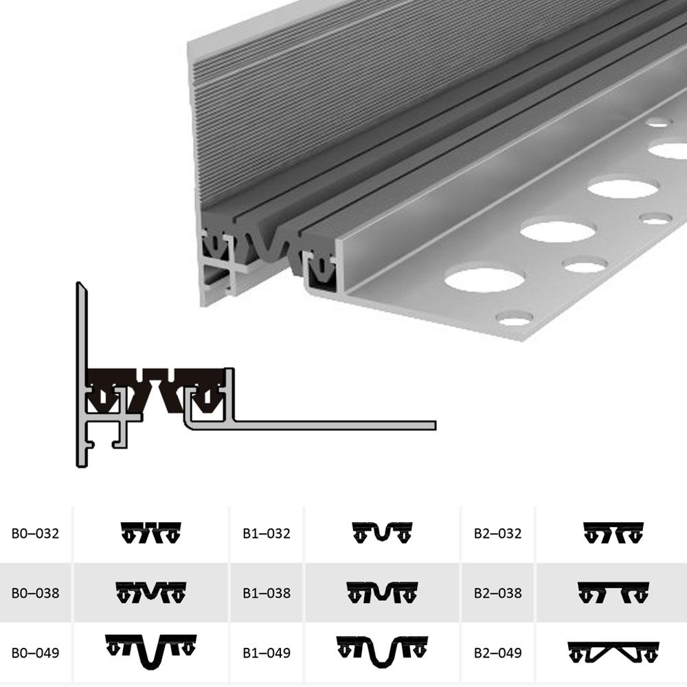 Закладной профиль для деформационного шва ДШМ-15-УГЛ/030 В0-038
