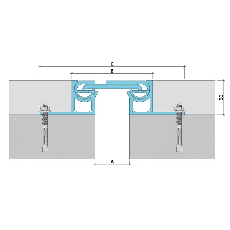 Закладной профиль для деформационного шва ДВА-50/050