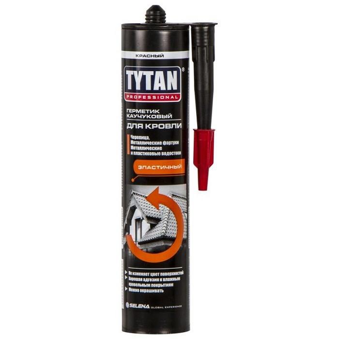 Герметик каучуковый Tytan Professional для кровли красный 310 мл, цена - купить у оптового поставщика