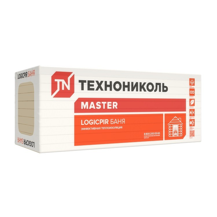 Теплоизоляция Технониколь Logicpir L Баня 1185х585х40 мм 6 плит в упаковке, цена - купить у оптового поставщика
