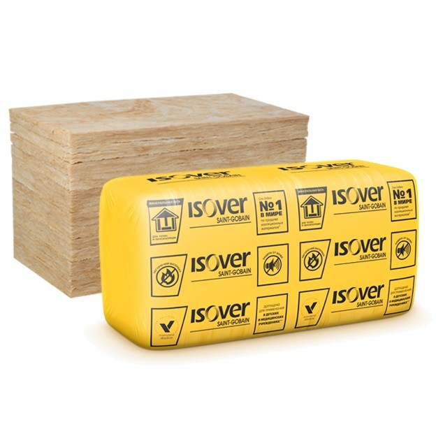 Теплоизоляция Isover Звукозащита 1170х610х100 мм на основе кварца 10 плит в упаковке, цена - купить Isover Звукозащита 1170х610х100 мм на основе кварца 10 плит в упаковке в Москве