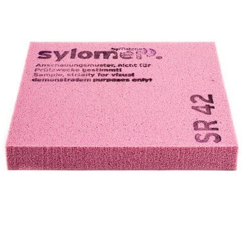 Виброизолирующий эластомер Sylomer SR 42 розовый 1200х1500х12,5 мм, цена - купить у оптового поставщика