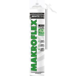 Пена монтажная Makroflex WhiteTeq белая Технология стандартная 750 мл, цена - купить у оптового поставщика