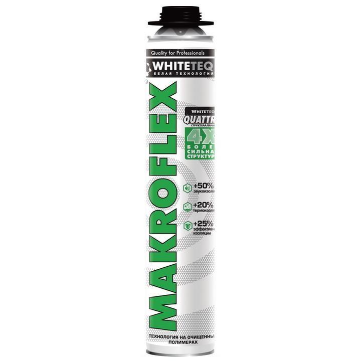 Пена монтажная Makroflex WhiteTeq белая Технология профессиональная 750 мл, цена - купить у оптового поставщика