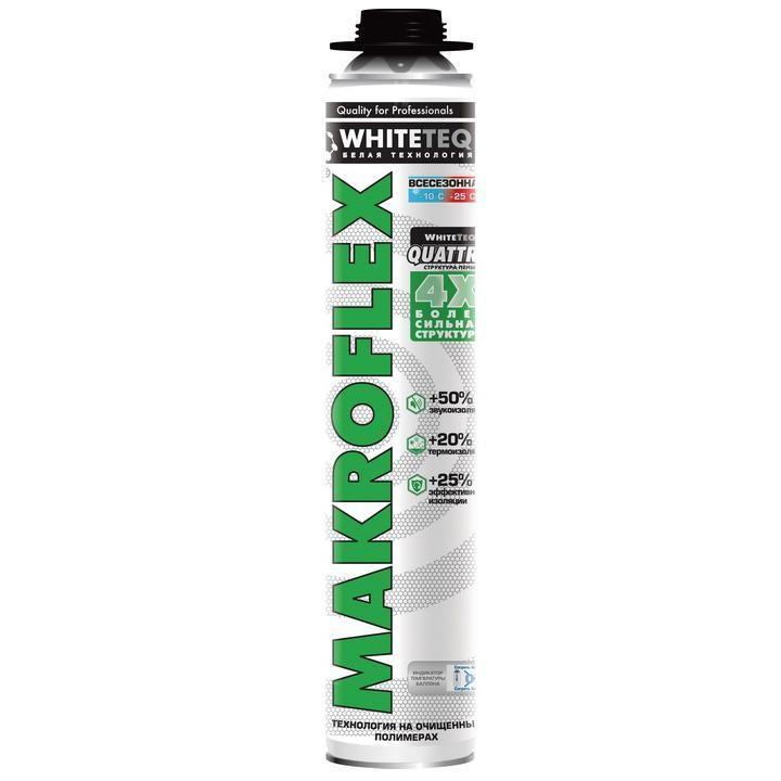 Пена монтажная Makroflex WhiteTeq белая Технология профессиональная всесезонная 750 мл, цена - купить у оптового поставщика