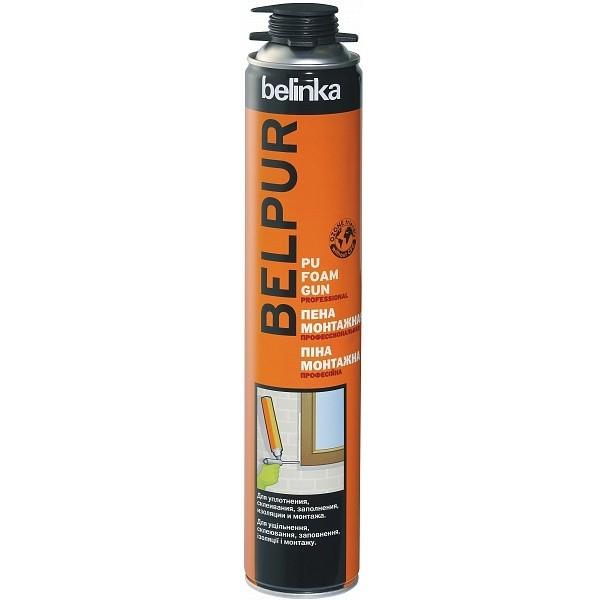 Пена монтажная профессиональная Belinka Belpur PU foam Gun 750 мл, цена - купить у оптового поставщика