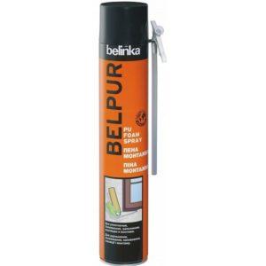 Пена монтажная бытовая Belinka Belpur PU foam Spray 750 мл, цена - купить у оптового поставщика