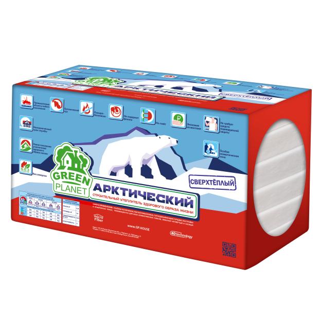 Утеплитель Green Planet Арктический 1000х600х100 мм 6 плит в упаковке, цена - купить у оптового поставщика в Москве