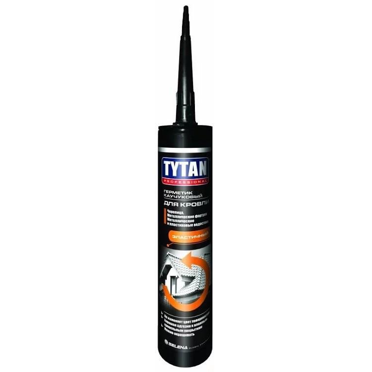 Герметик каучуковый Tytan Professional для кровли коричневый 310 мл, цена - купить у оптового поставщика